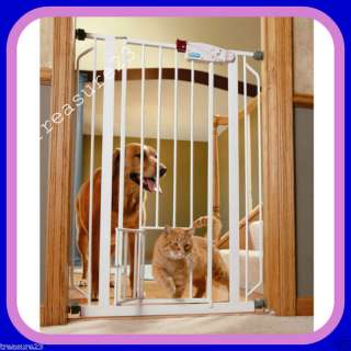 Carlson Extra Tall Walk Thru Baby Gate with Pet Door
