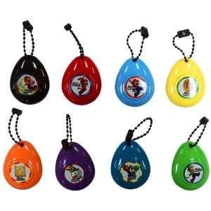 New Super Mario Bros. Wii Set of 8 Sound Effect Keychains