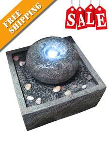 Donut Rock LED Indoor / Outdoor Water Fountain