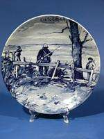 d959 Vintage Royal Delft Wall Plate Westraven OCTOBER