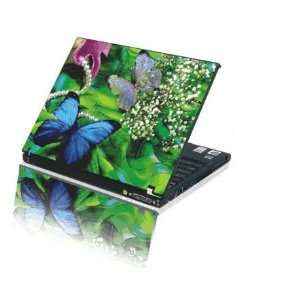 Laptop Notebook Skins Sticker Cover H215 Blue Butterfly