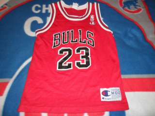 Vintage 90s Michael Jordan Chicago Bulls Red Away Jersey Youth Medium