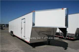 X48 ENCLOSED GOOSENECK CARGO CAR HAULER TRAILER 21K V NOSE
