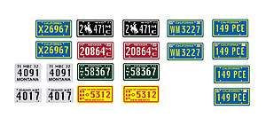 25 scale model Duel semi truck car license tag plates