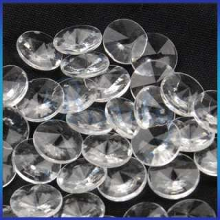 500 x Heart Shaped Crystal 50 x Round Diamond Beads Wedding Party