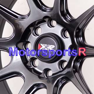 15 15x8.25 XXR 527 Chromium Black Rims Wheels Stance 98 Nissan 240sx