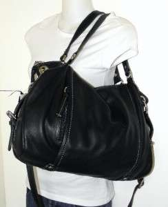 NEW GIANI BERNINI BLACK SOFT LEATHER X LARGE TOTE BAG