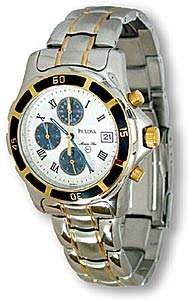 Bulova Marine Star Mens Two Tone 100 M Chrono