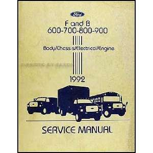 600 900 Medium/Heavy Truck Repair Shop Manual Original Ford Books