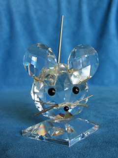 Vintage SWAROVSKI Crystal Large MOUSE Estate Figurine Figure Old Mark
