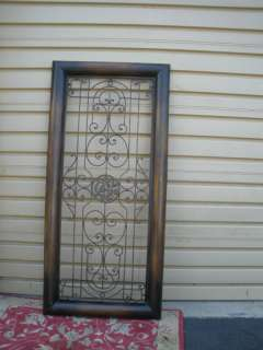 Metal Framed Modern Wall Decoration Scrolled DOOR SIZE Plaque