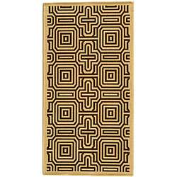 Indoor/ Outdoor Matrix Natural/ Brown Rug (27 x 5)
