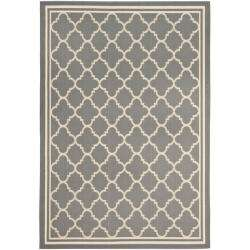 Dark Grey/ Beige Indoor Outdoor Rug (8 x 112)