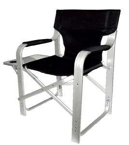 Super Heavy Duty Directors Chair with Table Black 1601