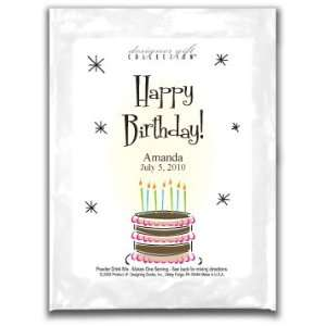Cocoa SS Wh Happy Birthday Layered Cake
