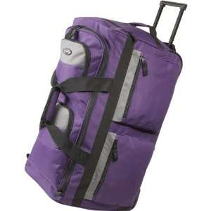 Olympia 26 8 Pocket Rolling Duffel Bag (Dark Lavender