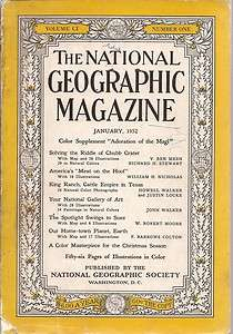 National Geographic Magazine January 1952