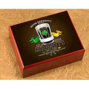 Irish Pub Personalized Cigar Humidor