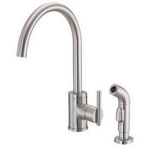Collection Single Handle High Rise Spout Kitchen Faucet With Spray