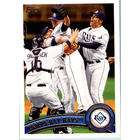 Topps 2011 Topps Baseball Card #52 Rays Team Leaders Tampa Bay Rays