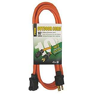 10 ft. 16/3 SJTW Orange Outdoor Extension Cord  Prime Wire & Cable