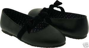 New LAmour F505 Girls Black Ballet Flat Mary Janes