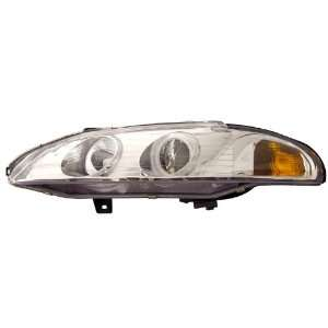 1997 1999 Mitsubishi Eclipse Projector Headlights Halo Chrome Clear