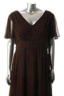 Suzi Chin NEW Plus Size Cocktail Dress Brown Silk Sale 20W