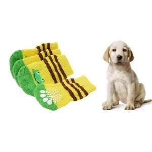 Como 4 Pcs Pet Dog Puppy Socks with Frog Pattern 8 x 4cm