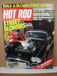 Hot Rod Magazine, May 1979 Street Blowers