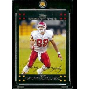 Topps Football # 204 Tony Gonzalez   Kansas City Chiefs   NFL Trading