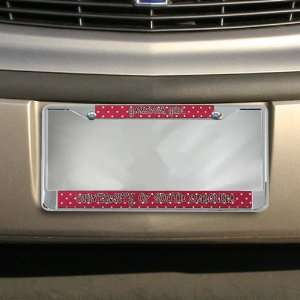 South Carolina Gamecocks Garnet Polka Dot Chrome License Plate Frame