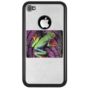 iPhone 4 or 4S Clear Case Black Red Eyed Tree Frog on