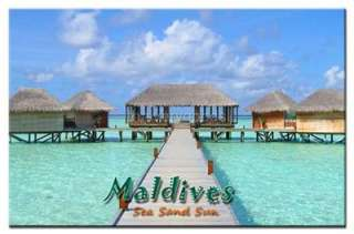 MALDIVES ISLAND TRAVEL SOUVENIR FRIDGE MAGNET