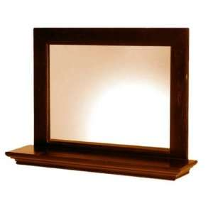 White Craft M215171 Cabbage Small Mirror with Shelf in