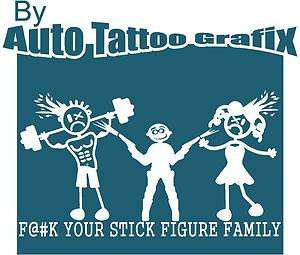 YOUR STICK FIGURE FAMILY Decal Sticker Car Truck Bike Surf Funny