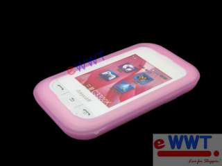 for Samsung C3300 Champ * Pink Silicon Cover Soft Case