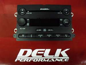 2007 Ford Mustang Shaker 500 6 Disk CD Player Head Unit