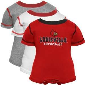 adidas Louisville Cardinals Infant Cardinal, Ash & White Superstar