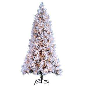 Ft. Pre Lit Flocked Willow Pine Tree 5819 75c