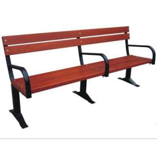 Commercial Bench With Back & Arm Rests CB203
