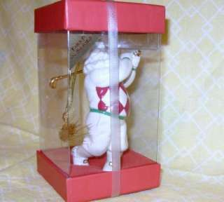 Lenox China 1st Santa Xmas Ornament Gold GOLF Club