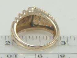 14K Yellow Gold .81ct Diamond Dome Ring