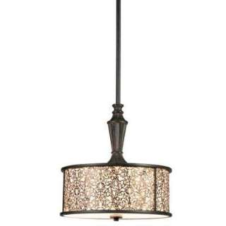 Hampton Bay Melosa 2 Light Hanging Bronze Pendant HD119524 at The Home