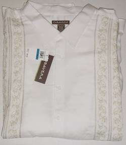 CUBAVERA BRIGHT WHITE LINEN BUTTON SHIRT BIG TALL 6XLT