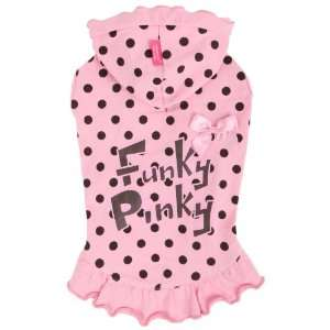 Pinkaholic New York Funky Pinky Hooded Shirt for Dogs, Pink, X Small