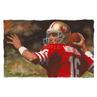 Joe Montana Print San Francisco 49ers Wall Canvas Art