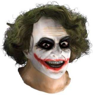 Joker Latex Mask With Hair Includes Full over the head latex mask