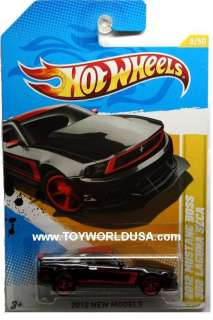 Hot Wheels New Models #8 2012 Ford Mustang Boss 302 Laguna Seca black