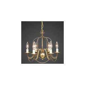 Chandelier Hanging Bird Cage Arms 6 Candelabra Sockets by Northeast